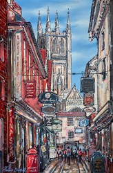 Old Canterbury by Phillip Bissell - Original Painting on Box Canvas sized 20x30 inches. Available from Whitewall Galleries
